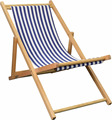 Deck chair with Blue and White stripe