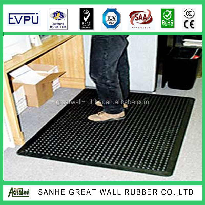 Great Wall Rubber 16mm Thickness Water and Oil-proof Rubber Flooring Mat Anti-fatigue Rubber Mat