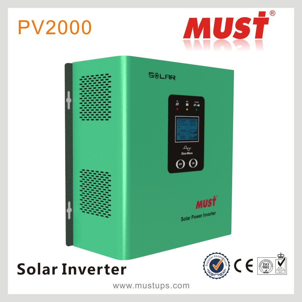 MUST PV2000 500VA-2000VA AVR function low frequency pure sine wave power inverter