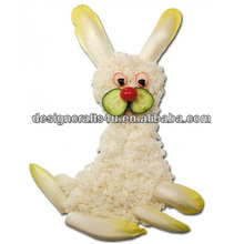 Funny Rabbit Vegetable Resin Figurine