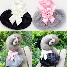 High quality luxury pet dogs summer dresses with bow ,pretty dogs lovely dresses for summer