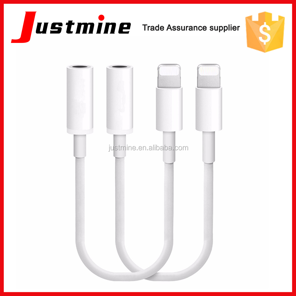 For Apple iPhone7/iPhone 7 Plus Headphone Jack Adapter Lighting to 3.5mm Female Nylon AUX Cable Earphone Converter Accessories
