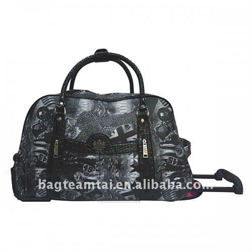 printing pu leather travel bag /weeknd bag /trolley bag