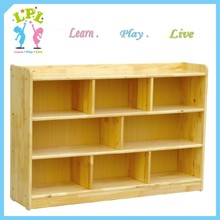 Children early-learning furniture kindergarten solid wood storage furniture kids toys display cabinet
