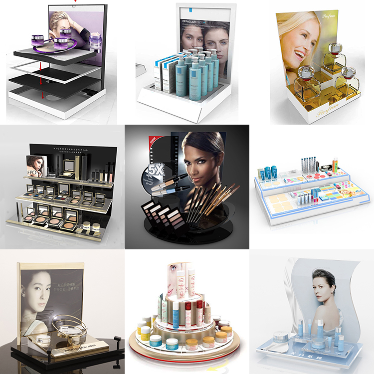 Custom high-class acrylic countertop cosmetic display stand