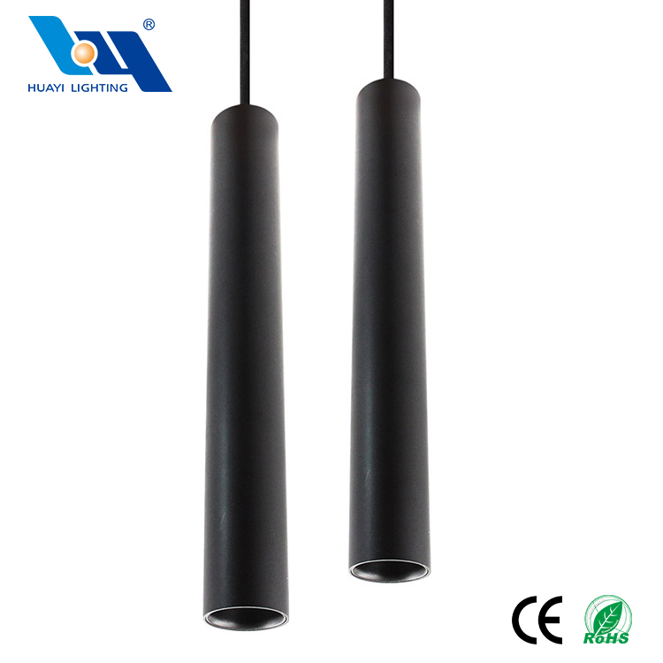 Zhongshan Modern Metal Classic LED 24W Cylindrical Black Long Pendant Lamp Decorations For Home
