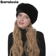 Fashion Knitted Hats Custom Hat For Women Winter Mink Fur knitted