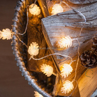 Pine Cone 20 LED Solar Powered Outdoor Decorative Lights For Christmas, Wedding , Party HNL083B
