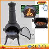 HOT SALE!!! 113cm H outdoor cast iron& steel chimenea