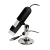 Pluggable USB digital microscope with stand for Windows, Mac, Linux, mobile devices.