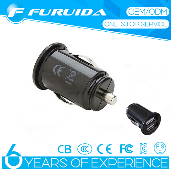 Univerl for Gri Slim ffin Dual USB Car Charger DC12-24V