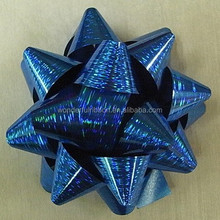 Printing PP Pull Bow/Newest Style Multri Color Per-Make Plastic Ribbon Star bow for gift packing festival decorative