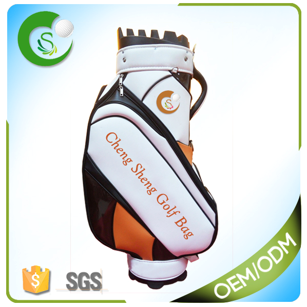 Red PU Custom Golf Tour Bag