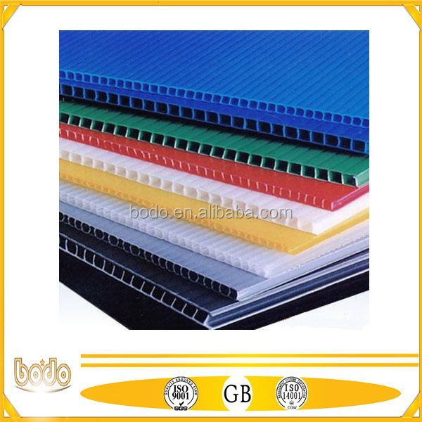 Polypropylene PP Corrugated board / PP Hollow sheet for advertise printing & Package