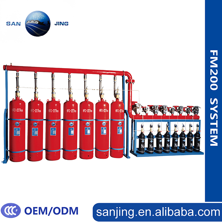 Clean Agent Gas Type FM200 Fire Suppression System