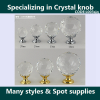 Export decorative clear glass drawer pulls K9 crystal glass furniture knobs