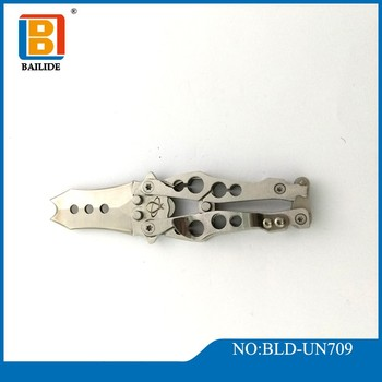 Butterfly Knife Trainer Rescue Folder Half Stainless Steel Blade Knife