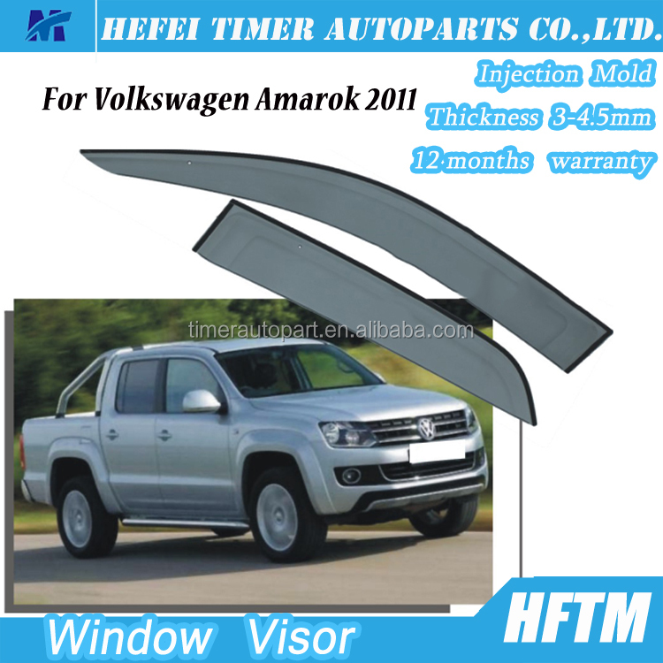 Plastic window visor exterior car accessories for Volkswagen Amarok 2011