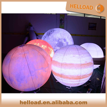 popular large solar inflatable moon balloon light planet sph for sale