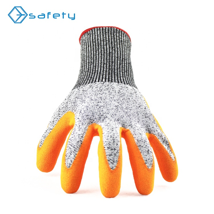QL <strong>protective</strong> cut resistant nitrile coatd working safety glass gloves