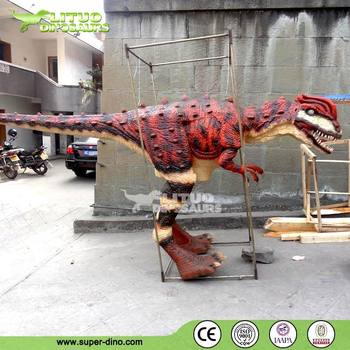 Walking With Life Size Dinosaur Costume