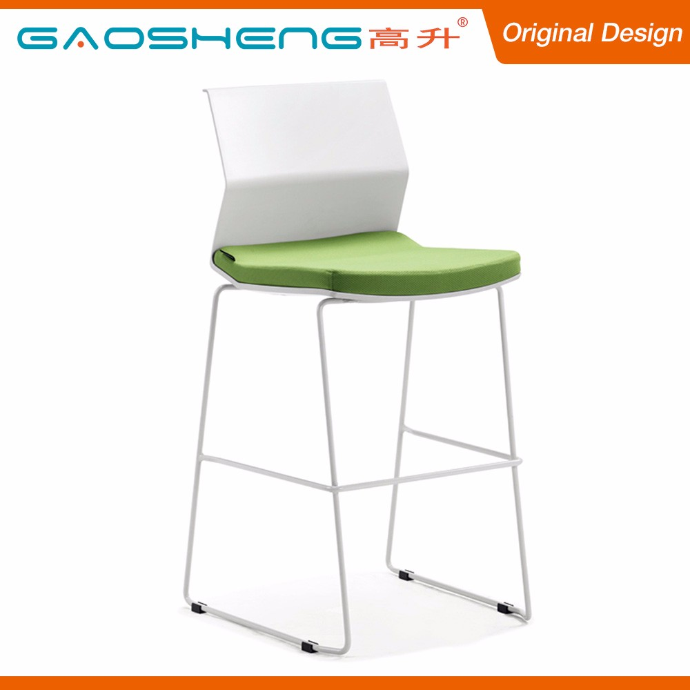 Simple Design White Resin Back Fabric Chairs Bar Stools Wholesale