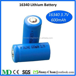 Lithium ion Battery 16340 3.7v