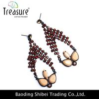 2014 rhinestone pearl earring, wholesale rhinestone pearl earring, fashion pearl earring for party