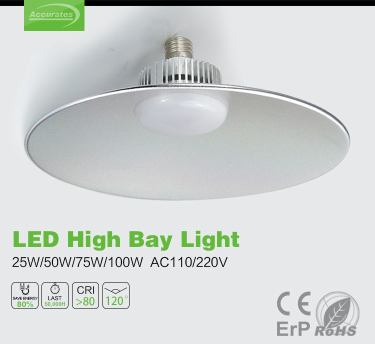 Commercial led lighting IP44 E27/E40/hang ring 45W warehouse ufo dimmable industrial led high bay light,made in china