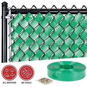 PVC Chain Link Fence Weave garden fenceing plastic decoration