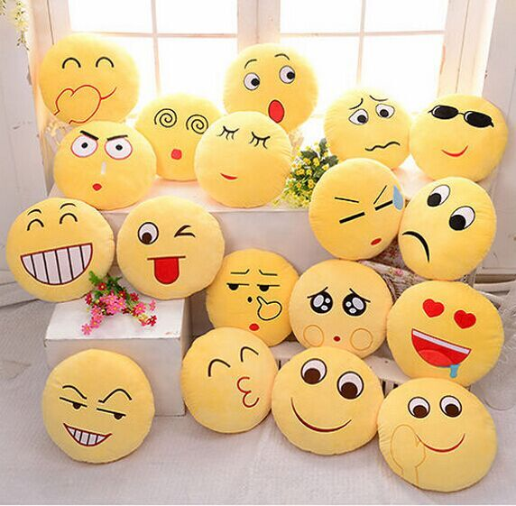 2015 promtion gift smiley emoticon custom printing decorative whatsapp plush emoji pillow