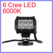 30/60 Degree Beam 30000 Hours Life 6 LED High Lumens LED Offroad Light Bar