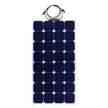 High Efficiency 100W Sunpower Back Contact Cells Semi Flexible Solar Panel for RV