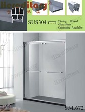 customize design line shape bathtub shower screen for fat man