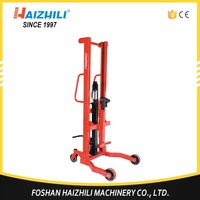 Wholesale 350kg material handling oil drum lifter, manual drum carrier lifter equipment