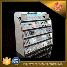 Famous brand makeup retail store fixtures cosmetic display stands