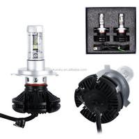 2017 Mini led 25W H4 car led headlight bulbs 3 colors 9-30V PHI-ZES H7 auto led headlight