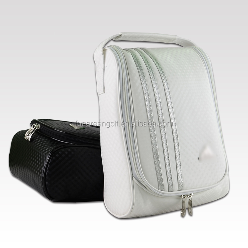 Brand PU Golf Shoes Bag Black White Travel Bags for Shoes