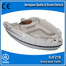 SANJ SJFZ16 top good quality fiberglass fishing combined boat for sale