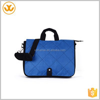Classic big capacity oxford blue shoulder handle long adjustable strap book school bag