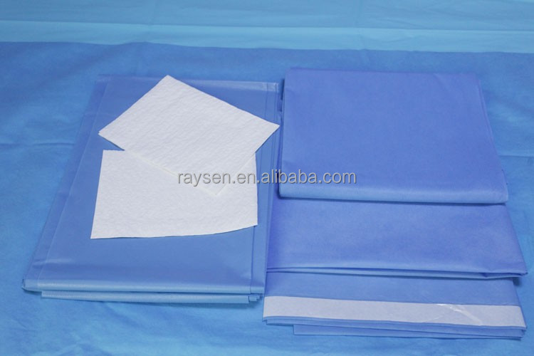 2016 Raysen Free Samples Disposable Surgical Drapes for Hospital in Medical Use with Sterilization