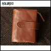 high quanlity Customized Mens Luxury leather money clip slim travel wallet
