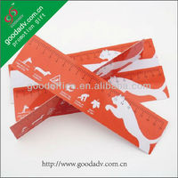 Student metric scale school drawing stencil Promotion plastic ruler