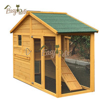 Ppet Product Bunny Cage Rabbit Hutch Sale Cheap Chicken Coop With A Sliding Access Door
