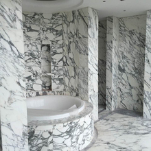 Arabescato Italy Polished State Cararra White Slab Marble For Interior Wall