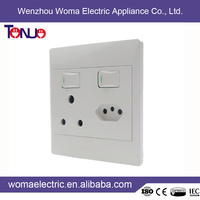 best selling south africa style plastic 16A switch socket multifuction