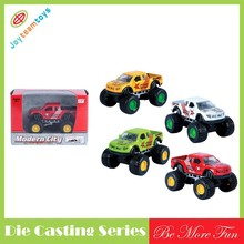 Die cast model pull back pick up car Mteal car