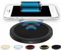 2017 Brand New Portable Round QI Wireless Charger Charging Pad Original wireless charger laptop for iphone
