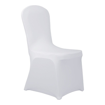 Polyester Spandex White Chair Cover for Wedding Party Dining Banquet Chair Decoration