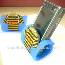Wenzhou factory directly sale custom company logo soft pvc,rubber cellphone stand holder